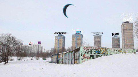 Новое видео о сноукайтинге в столице с Николаем Рахматовым