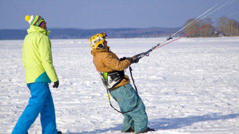 Выбираем сноуборд и крепления для сноукайта.