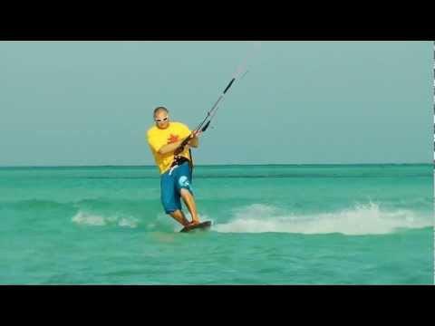 Видео урок движение на кайте в Toeside (Свиче).