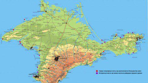 Крым — Основные споты полуострова или где покататься этим летом