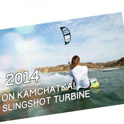 Тест кайта Slingshot Turbine 2014 в слабый бриз Тихого Океана!