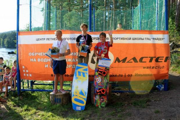 Boys podium