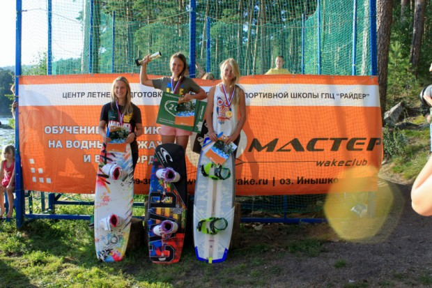 Open women podium