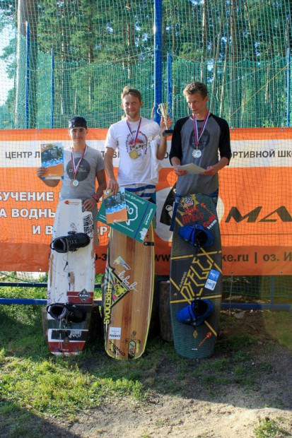 Open Men podium