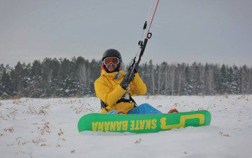 Сноукайтинг в окрестностях Екатеринбурга