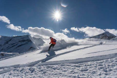 Австрия. Капрун. Горы. Солнце. Снег.
